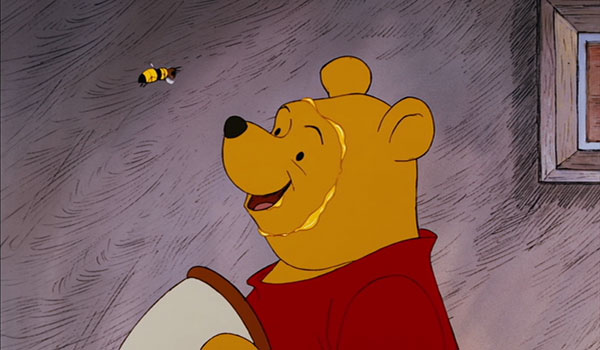 """""""The only reason for being a bee is to make honey, and the only reason for making honey is so I can eat it!"""" Irrefutable logic."""
