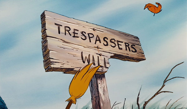 """Piglet says his house has been in his family for generations, but that's obviously a """"Trespassers Will Be Prosecuted"""" sign. Presumably Christopher Robin in real life has seen a broken sign like that in the woods and has created this backstory for Piglet to use it. A lot of the make-believe stuff in this film is explicit - I like that this one is a bit more subtle."""