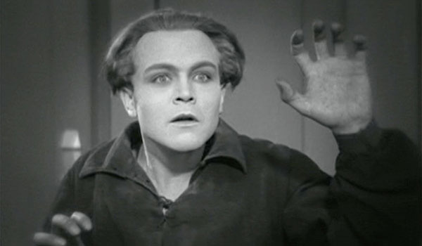 Gustav Frühlich in Fritz Lang's Metropolis (1927), which uses highly stylized acting in keeping with its German Expressionist style.