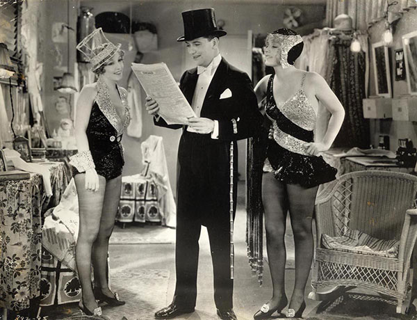The novelty of the backstage musical helped The Broadway Melody (1929) to an Oscar win; it's not that good, and its many imitators over the next couple of years were worse.