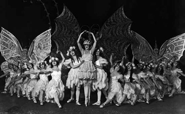 The Ziegfeld Follies, circa 1910s, known for glamour and showiness, not substance.