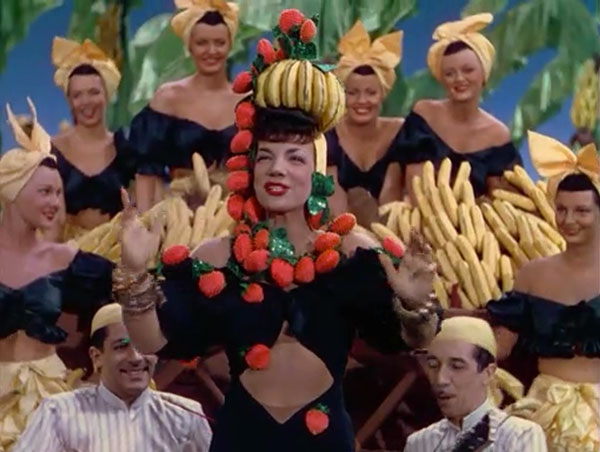 Carmen Miranda performs a decidedly non-realist musical number in The Gang's All Here (1943).